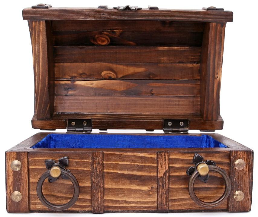 Wooden keepsake boxes